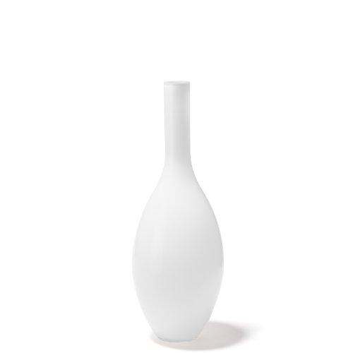 Leonardo Beauty Vase weiß, Höhe 50 cm, Durchmesser 18 cm, handgefertigtes Farbglas, 052455 - Weißer Boden-vasen