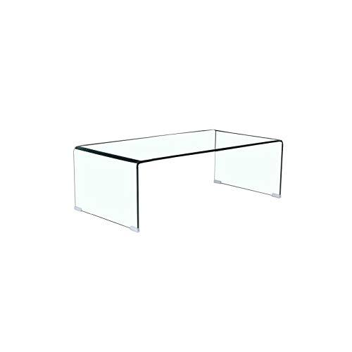 Mesa de Centro diseño de Cristal Curvado