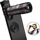 Cell Phone Camera Lens,vpkid 12x Zoom telephoto Lens for Smartphone 2 in 1