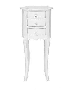 Fagiolino bianco in legno stile vintage con due cassetti L'ARTE DI NACCHI MI-1474/B