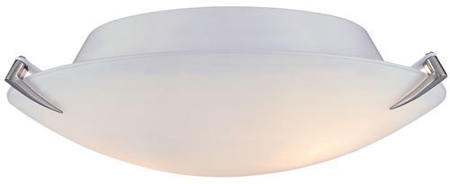 Lite Source LS-5337PS/FRO Nick Flush Mount Lite, Polished Steel with Frost Glass, 12-Inch Diameter by Stacks And Stacks -