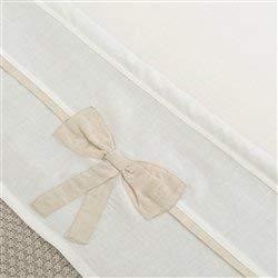 Little Naturals 008-524-64957 Drap, 120 x 150 cm, Linen Décoration Bow Blanc/Naturel