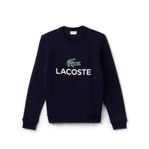 Lacoste Herren Sh0605 Sweatshirt, Blau (Navy Blue 166), Large (Herstellergröße: 5) (Navy Kurzarm-pullover)