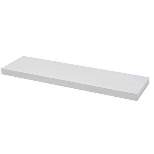 Your Choice Estante de Pared, Madera, Blanco Alto Brillo, 80x23.50x3.80 cm