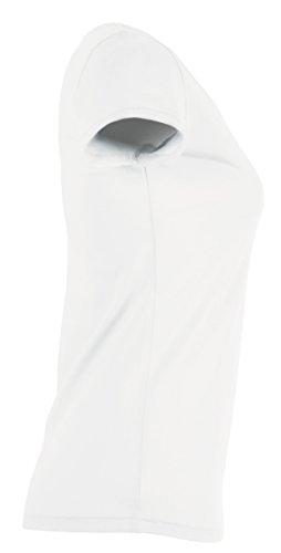 YTWOO Lara Damen Basic T-Shirt Aus 100% Bio-Baumwolle mit U-Ausschnitt, Bio Kurzarmshirt Farben Weiß und Schwarz bis Größe 2XL, Organic Cotton Weiß