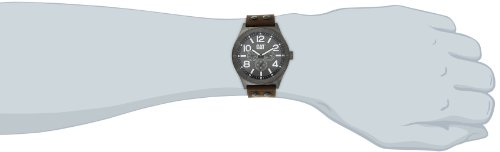 Cat Men's Quartz Watch with Brown Dial Analogue Display and Brown Leather Strap NI.159.35.535