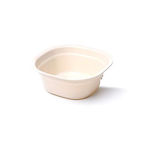 MNEFEL Rechteckiges Modell Schlichtes Waschbecken Haushalt Verdickter Kunststoff Waschbecken Waschbecken Waschbecken Waschbecken Waschbecken, beige, S
