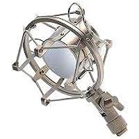Powerpak Shock Mount 01 Universal Mount Holder for Studio Condenser Microphone (Silver)
