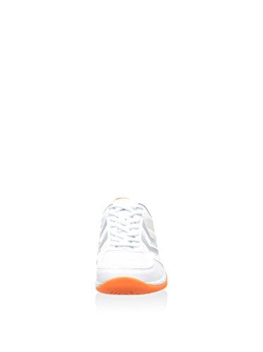 HummelHUMMEL OMNICOURT Z8 FLEXSHIELD - Scarpe sportive indoor Unisex – adulto - weiß / neonrot