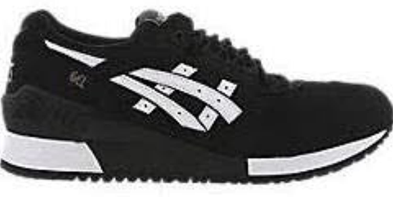ASICS Hombres Negro/Blanco Gel-Respector Zapatillas-UK 6