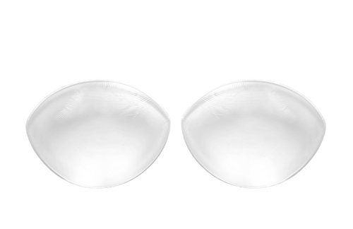 Sodacoda - 260g/Paar - Transparent - Große Silikon Brüste Einlagen für BHS und Badeanzüge - passend für Körbchengröße A-D