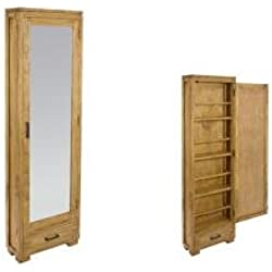 Zapatero con espejo IOS. Medidas: 50x20x170cm