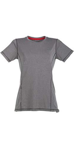 Red Paddle Co - SUP Stehpaddel Boarding - Original Damen Performance T-Shirt T-Shirt Top Grau - Easy Stretch Lightweight - Fleece-stretch-t-shirt