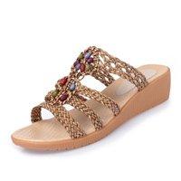ZPPZZP Ms sandali pantofole piatta Wild stile Coreano pendenza come segue 37EU