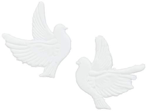 Efco Wachsdekoration 'Taubenpaar', 30 mm, weiß