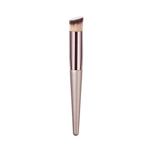 WORMENG Pinceau de maquillage Kit de Pinceau maquillage Professionnel Outils Ombre à Paupière Blush Fondation Pinceau Poudre Fond de teint Anti-cerne Manche en bois Haut de gamme Champagne d'or