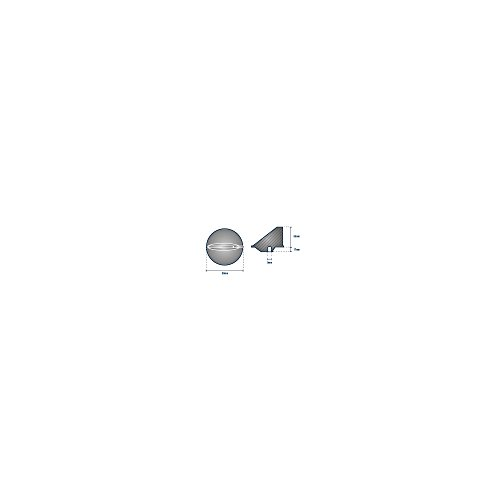 Finn-Anode kurz, für Außenborder von MERCURY - ORANGEMARINE