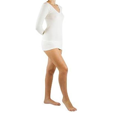 Maglia manica lunga donna lana/angora - Colore Bianco - Taglia 4^/XL (Circonf.za sottoseno cm. 80