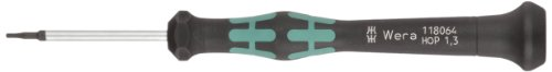 Preisvergleich Produktbild Wera 2054 Elektroniker-Sechskantschraubendreher, Hex-Plus, 1,3 x 40 mm, 1 Stück, 05118064001