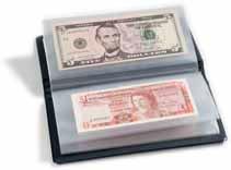 Taschenalbum für Banknoten blau -