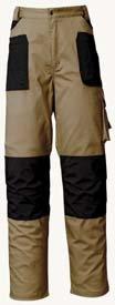 Industrial Starter - Pantaloni 8730 Issa Line Stretch Beige/Nero Taglia M