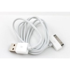 TB1 Products® 2 m iPhone 4S USB Daten Transfer/Lade/PC Verbindung Kabel – unterstützt iPhone 4S, iPhone 4, iPhone 3 GS, iPhone 3 G, iPod Classic, iPod Nano, iPad, iPad2 mit Dock Stecker 2 m iPhone Datenkabel