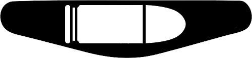 Play Station PS4 Lightbar Sticker Aufkleber 9mm (schwarz)