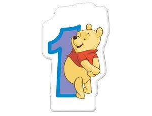 Bougie anniversaire 1 an Winnie l'Ourson (Disney)