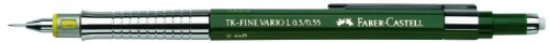 Faber-Castell Tk-Fine VARIO L – Portaminas (B), color verde, 0,35 mm