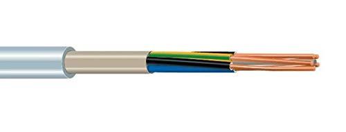 25m Meter NYM-J 5x6 mm² grau Installationskabel Feuchtraumkabel Mantelleitung für Durchlauferhitzer oder 32A Starkstromsteckdose...