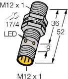 Turck Sensor,ind,M12x1,Stecker Bi4U-MT12-AP6X-H1141 Uprox,sn=4mm,2000Hz Induktiver Näherungsschalter 4047101128734