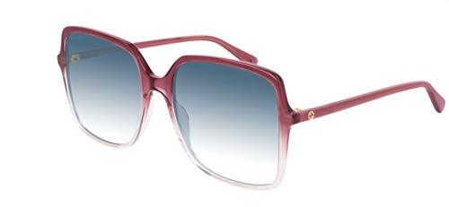 Gucci gg0544s-005-57 occhiali, burgundy kristall/kristall kristall, 57.0 unisex-adulto