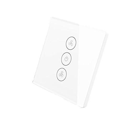 Xbeast Smart Fan Switch, WLAN Rolladenschalter Kapazitiver Lüfterschalter mit Touch Panel -