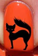 Halloween chat mauvais - Stickers pour ongles YRNAILS