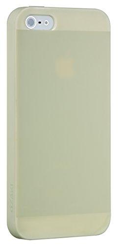 Ozaki O!Coat Spring Vibirnum für Apple iPhone SE/5/5S in grün [Inklusive Displayschutzfolie | Hochwertiges TPU | Leicht & dünn] - OC542GN hellgelb