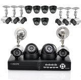 Ultimate Surveillance System + 16x SONY CCD Cameras - 8 Indoor + 8 Outdoor Cameras, H264 DVR, 1TB HDD, HDMI Output