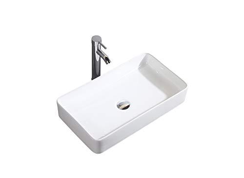 Gimify lavabi da appoggio lavabo di ceramica lavandino per bagno 60x34x10.5cm