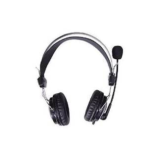 A4Tech HS-7Headset Stereo Headphones with Microphone (Wired, 2m, 20–20000Hz, 32ohm), Black