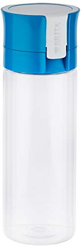 Brita Fill & Go Vital Botella con Filtro de Agua y Tecnología MicroDisc, Excelente Sabor para Disfrutar en Cualquier Lugar sin BPA, Color Azul