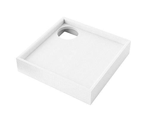 AQUABAD® Universal Duschwannenträger Styroporträger Wannenträger Duschwanne Quadratisch 90 x 90 x 14 cm
