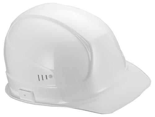 Mann Kostüm Weiser Blau - Uvex Superboss Schutzhelm - Belüfteter Arbeitshelm für die Baustelle - Weiß Weiß