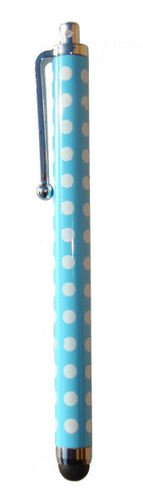 Buona qualità POLKA Sky Blue Dot SPOT buona qualità Pois tocco dello stilo per iPad, iPhone 5, 5S, 5C, Smartphone, S4 I9499, Per tutti iPad, iPhone, iPod, Samsung, Blackburry, e tutti i telefoni intelligenti e