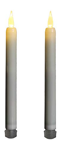 2 LED Taper velas parpadeo llama