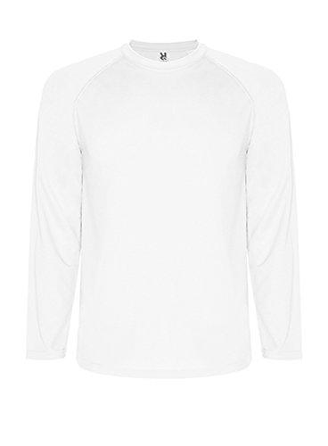 Roly Herren Funktionsshirt Langarm Montecarlo Basic Einfarbig Atmungsaktiv Weiß