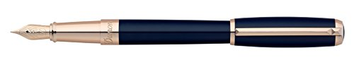 st-dupont-line-d-lacquer-fountain-pen-blue-rose-gold