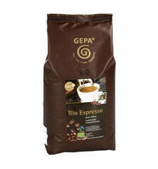GEPA Bio Espresso - ganze Bohne - 1 Karton (4 x 1000g) Fair Trade Kaffee