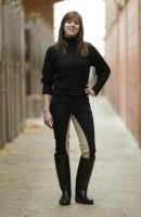 USG-Damen-Isabelle-Reithose mit 3/4-Kontrastbesatz