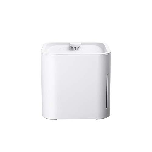 SUPER33 Dispensador de Agua Inteligente para Mascotas Dispensador de Agua Orgánico Antideslizante Automático Silencioso Gato Fuente de Agua Dispensador de Agua con Filtro de carbón Activado
