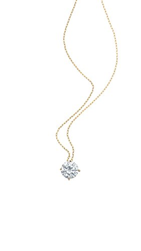 Ketten-Anhänger Damen Gold 14 Karat 585 (vergoldet) Schmuck Halskette mit Cubic Zirkonia Stein + Elegante Geschenk-Box Beste Geschenk für Frauen Ehefrau Mutter Freundin, Nickelfrei, Collier 45cm - Halskette Diamant-schmuck