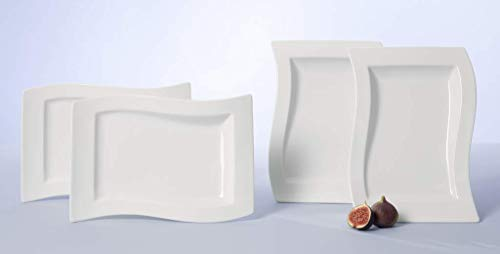 Villeroy & Boch Tafelservice, Edelstahl, metall, 50 x 40 x 13 cm, 4-Einheiten Design Teller